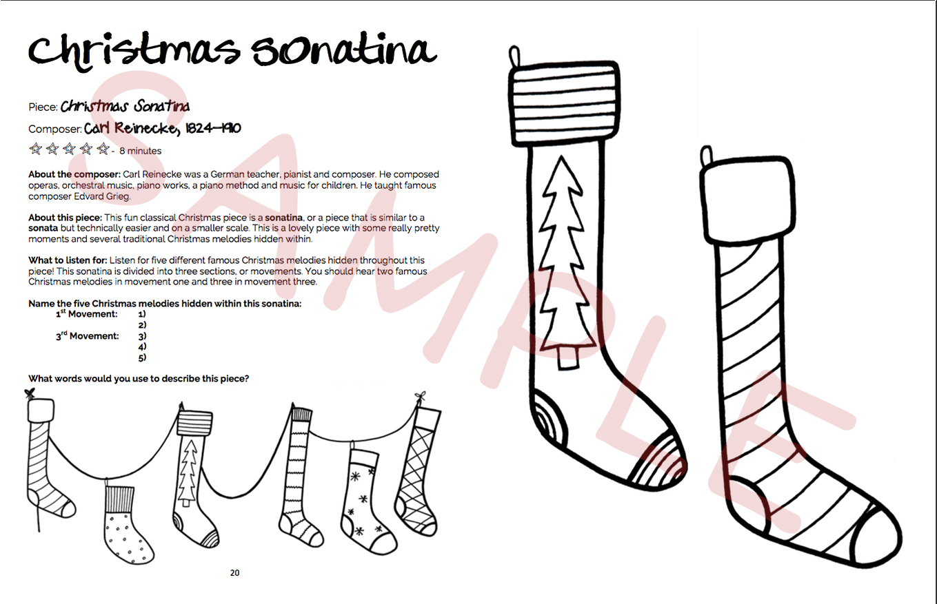 Christmas In About Three Minutes.Shades Of Sound Listening Coloring Book Christmas 2nd Edition