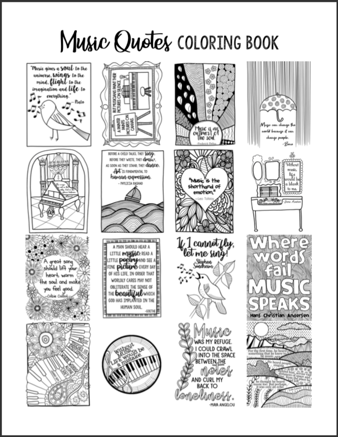 Quotes Coloring Book
