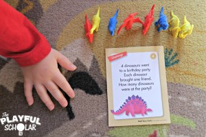 Dinosaur Themed Math Stories with Mother Goose Time