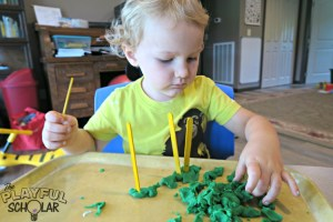 Counting Sticks – A Preschool Math Game