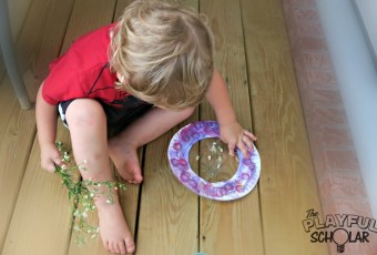 Flower Suncatchers for Toddlers and Preschoolers