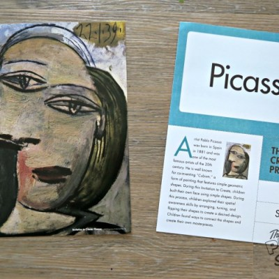 Picasso Inspired Creative Art with Mother Goose Time