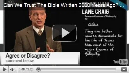 Can We Trust The Bible Written 2000 Years Ago? Dr. William Lane Craig‬‏