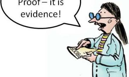Evidence For vs. Proof Of