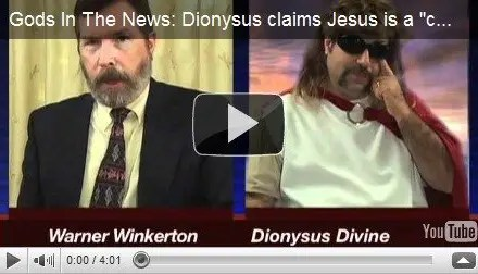 "Gods In The News: Dionysus claims Jesus is a ""copycat"""