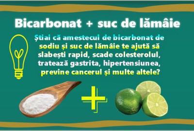 Bicarbonat de sodiu + suc de lămâie, un remediu recomandat pentru multe boli