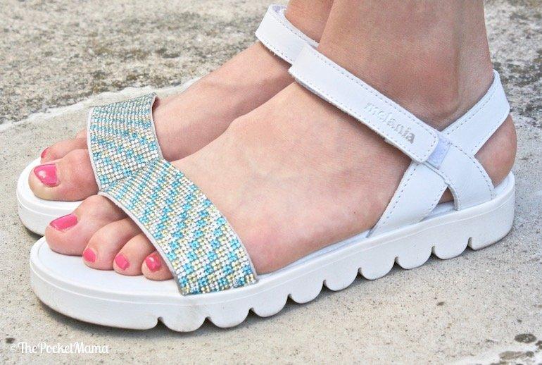 sandali melania cinturino in velcro