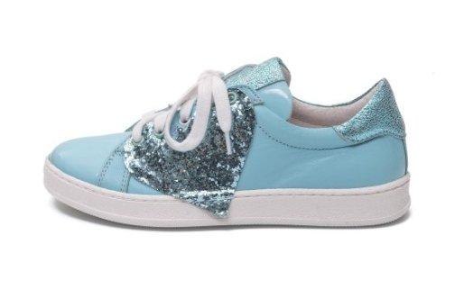 sneakers azzurre cuore glitter ninette en fleur