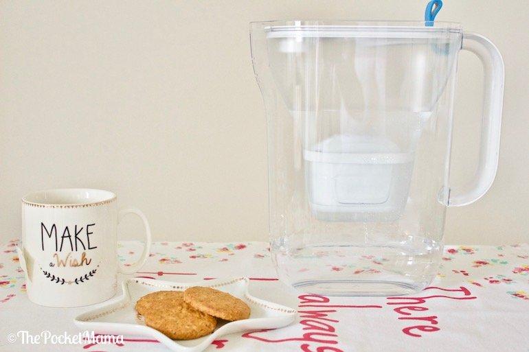 caraffa filtrante per preparare il tè