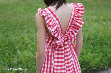 fiocco vestito vichy rosso aiana larocca