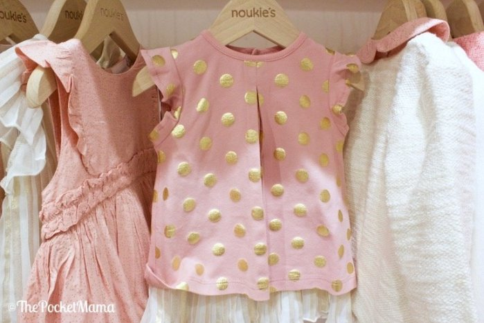 t-shirt rosa pois oro noukies