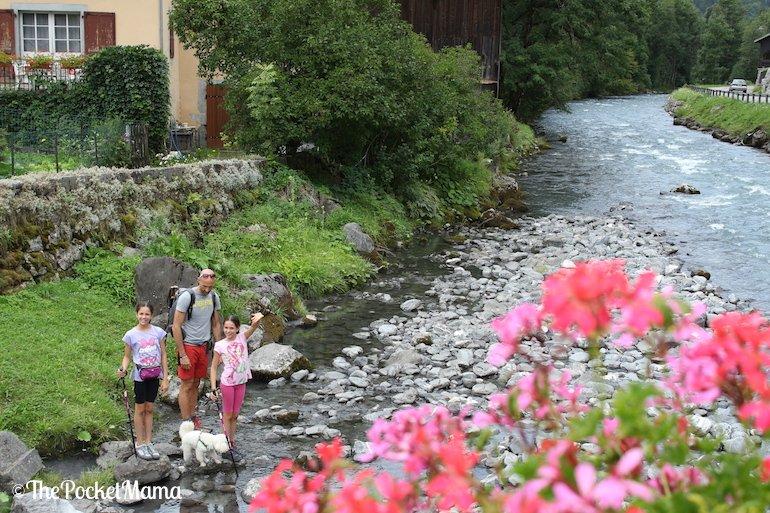 fiume che attraversa Sixt-fer-a-cheval