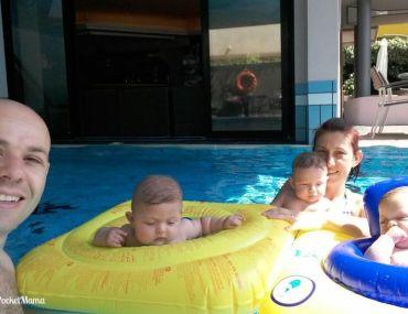 in vacanza con tre gemelli