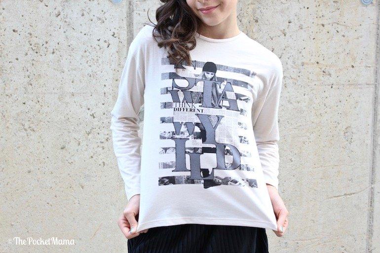 maglietta Mayoral bianca con stampa fashion