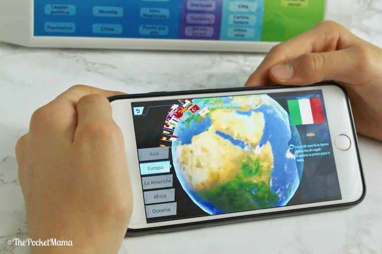 informazioni sul pianeta con Smart Globe Explorer AR