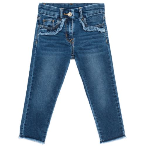 jeans orli sfrangiati Monnalisa SS 2018
