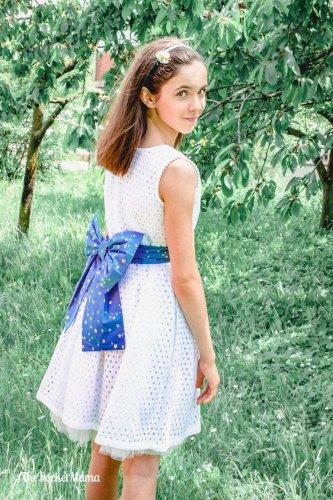 vestito Holly Hastie bianco con fiocco