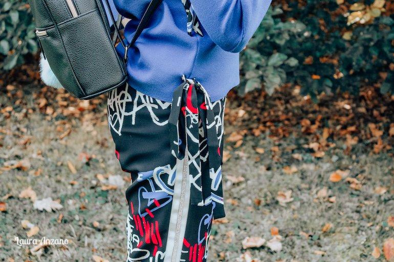 pantalone fantasia com strass Loredana FW 2018 2019