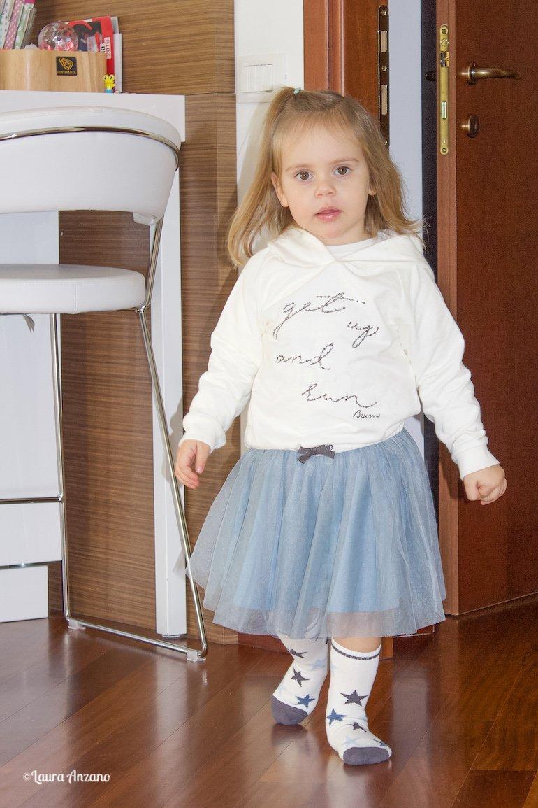 felpa bianca Brums bambina