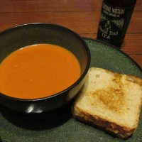 Kicked Up Tomato Soup with Grilled Cheese