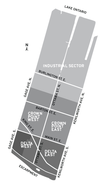 A map of the Crown Point Community