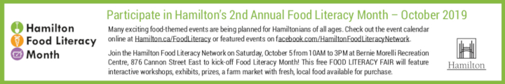 Hamilton Food Literacy Month