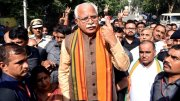 Manohar Lal Khattar after voting