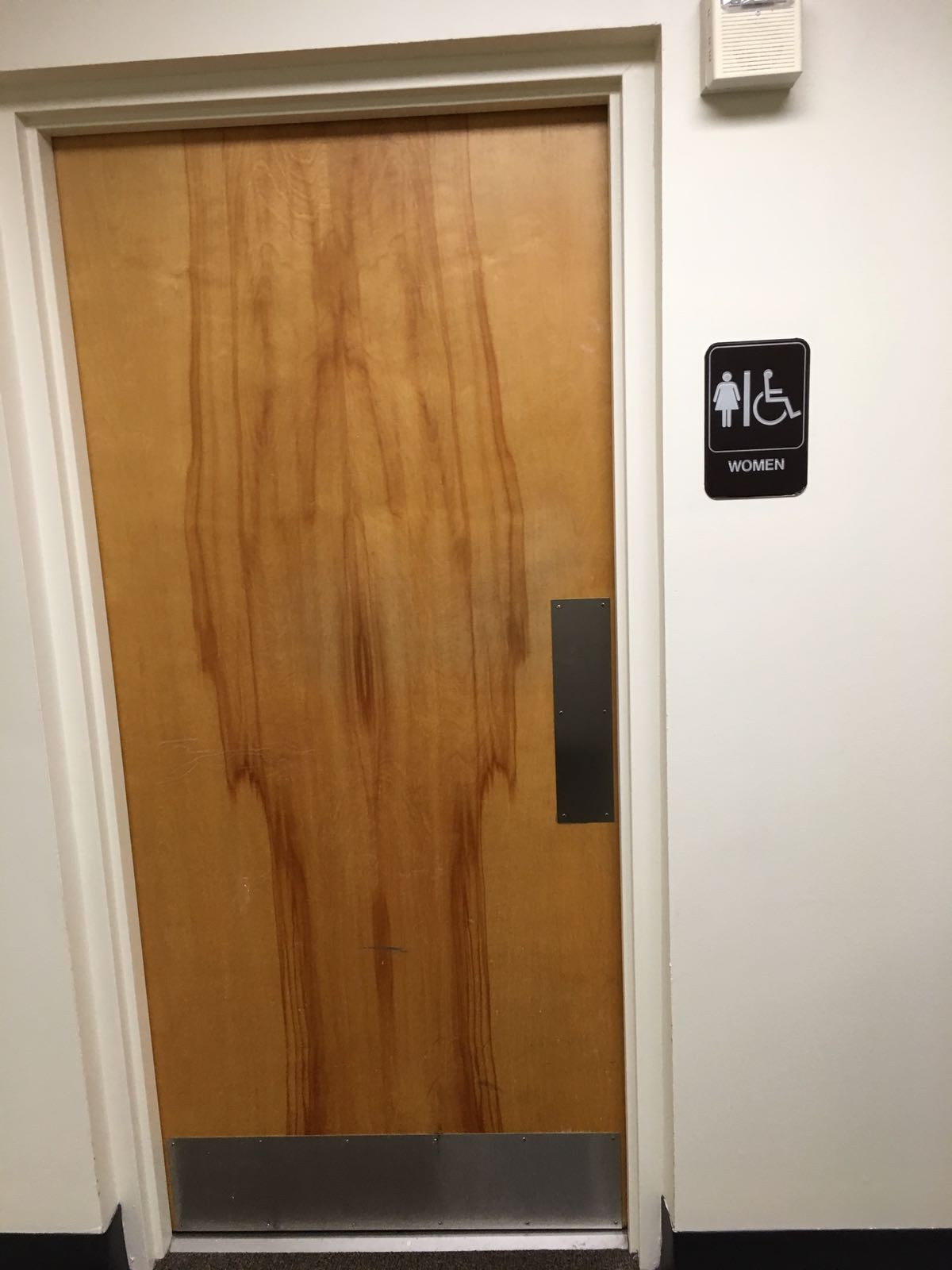 These Bathroom Doors Have Very Appropriate Wood Grain The Poke