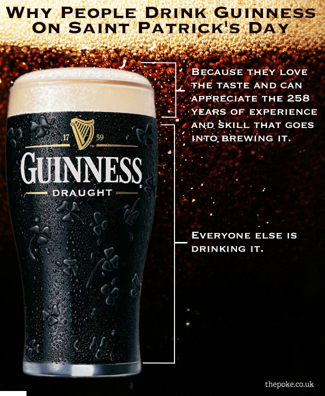 Why people drink Guinness on Saint Patrick's Day