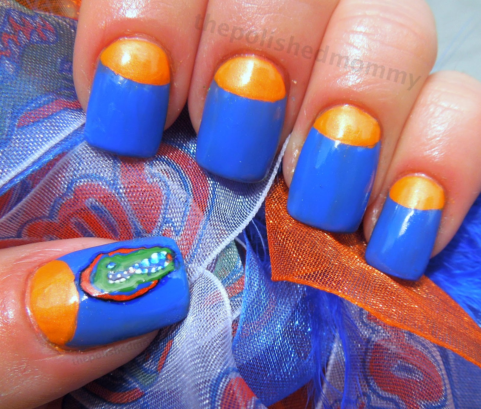 I China Glaze Orange Knockout And You Hot Then Nails Inc Baker Street The Gator Was Custom Mixed To Create Perfect Colors