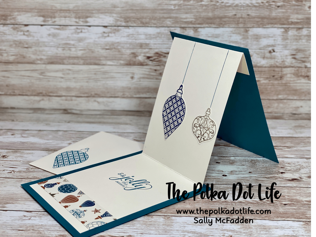 A beautiful fun fold card made with Stampin' Up products.