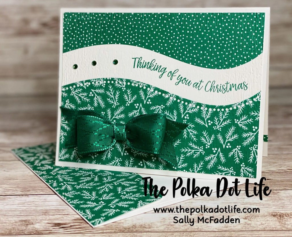 A greeting card made with Stampin' Up's Curvy Christmas Bundle