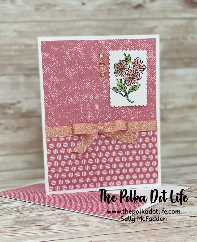 A handmade greeting card that is made using the Posted For You bundle by Stampin' UP.