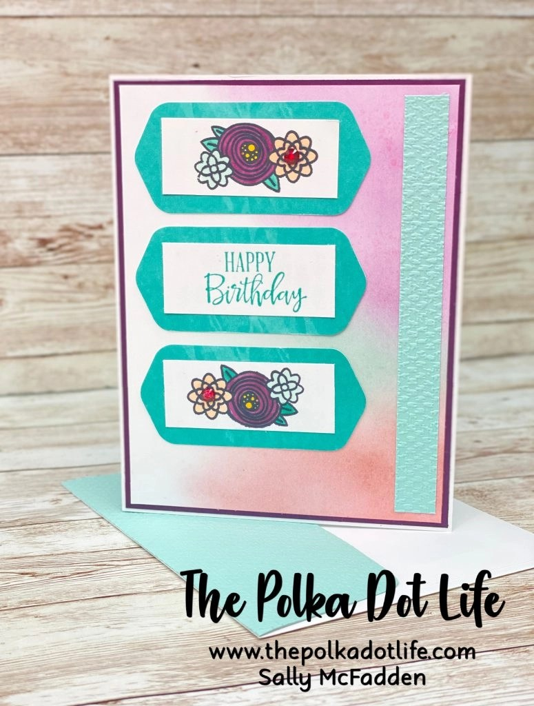 This is a greeting card created with elements of the Paper Pumpkin Hope Box kit.