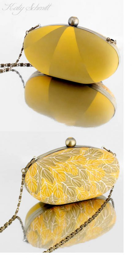 katy schmidt yellow purse 430x843 - Twice the Bag