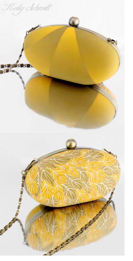 katy schmidt yellow purse 430x843 - Twice the Bag