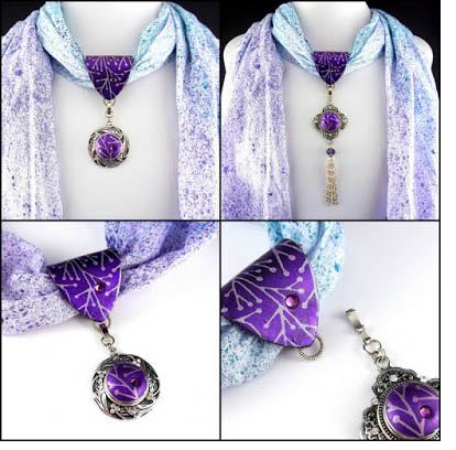 2 good clip on scarf charms - Charming Scarves