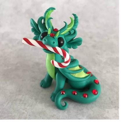 bGolin dragon candy cane 430x418 - Dragon in a Season's Greetings