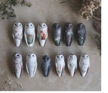 Meadow and fawn painted owls 430x370 - The Shape of Owls