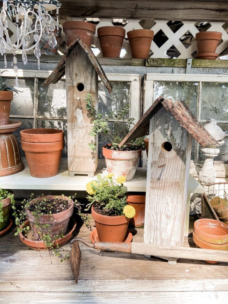 Whimsical Rustic Bird House made from Scrap Materials that we had on hand.  See step by step instructions