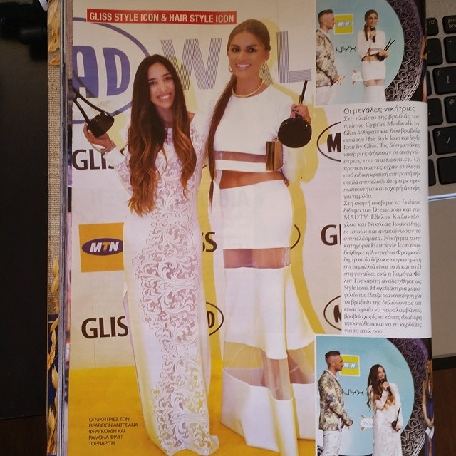 Andreana and Ramona Filip among their awards in Beautiful People magazine in June 2014