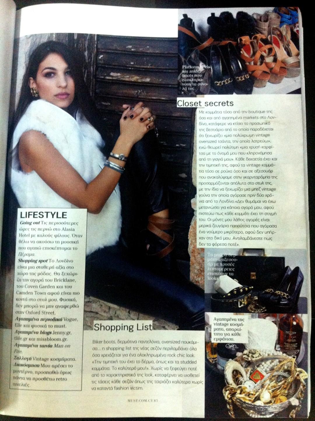 Thelxia-Valeria in Must magazine