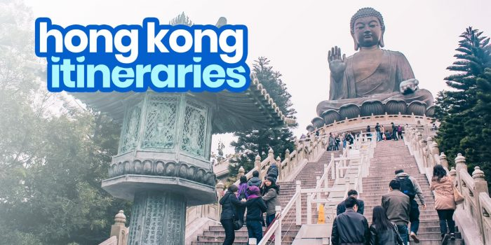 Sample HONG KONG ITINERARIES: 1, 2, 3, 4, 5, 6 Days