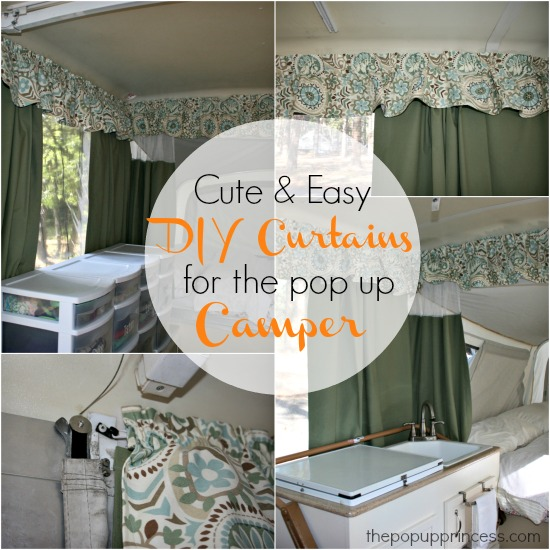pop up camper makeover the curtains