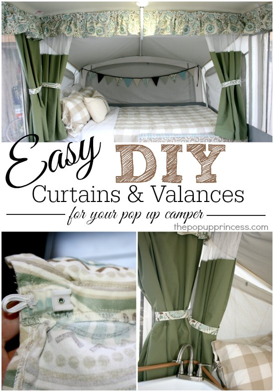 pop up camper curtains valances part