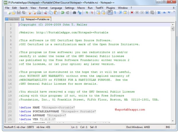 notepad++ Portable Download