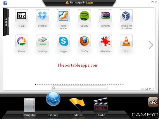 Portable app creator cameyo