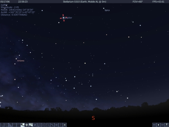 Jupiter Screenshot From Stellarium