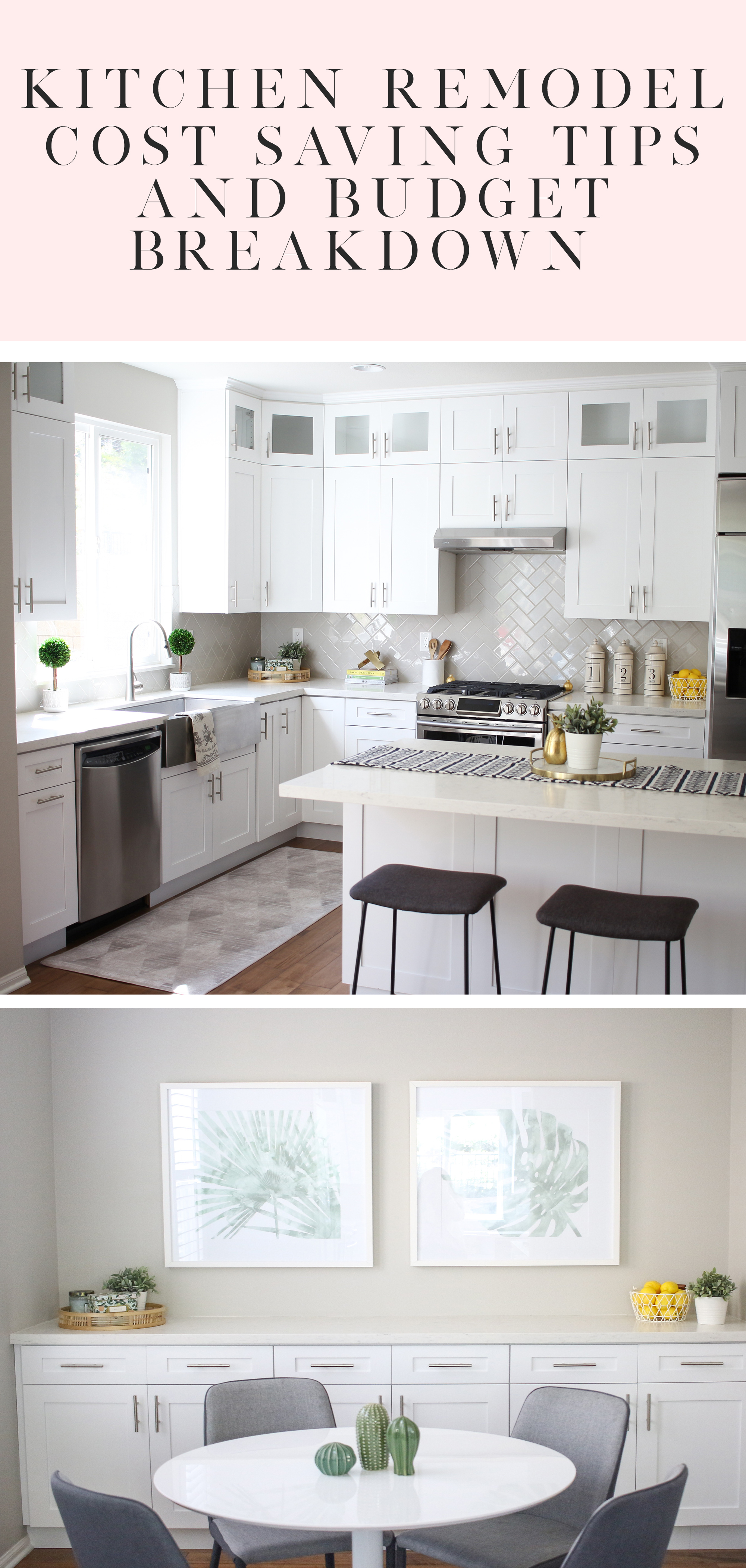 Kitchen Remodel Transformation And Budget Breakdown In