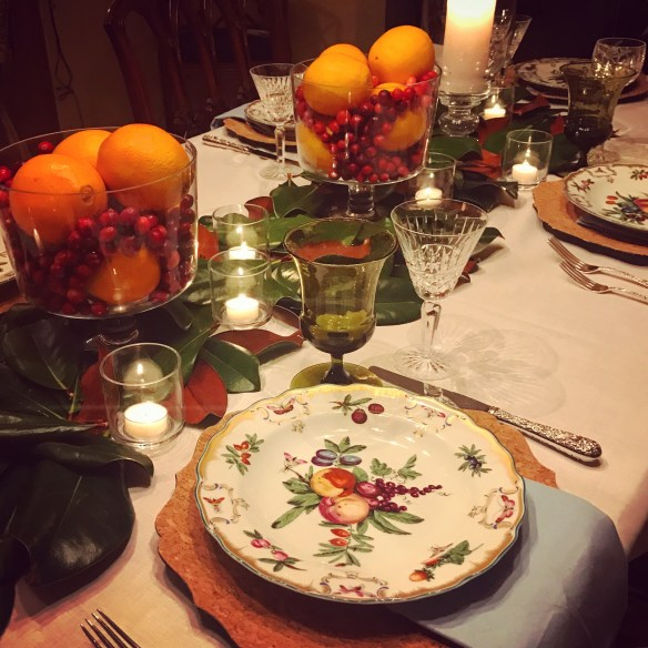 Tablescape for Thanksgiving by Christina Dandar for The Potted Boxwood